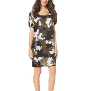 Michael Kors Sequin Camo Dress